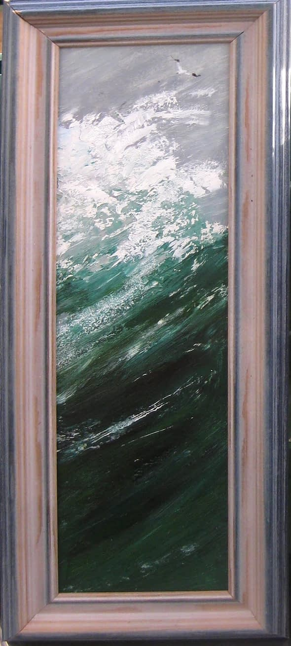 Breaking Wave with Gannet