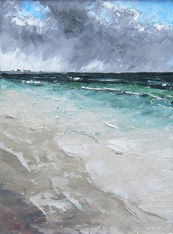 Sanderlings on Newark Beach
