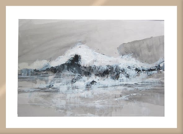 'Breaking Wave on a Weather Shore'
