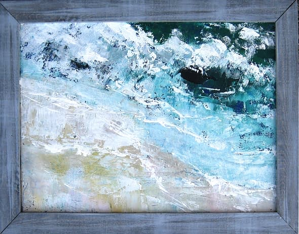 'Bright Waves Wet Sand'