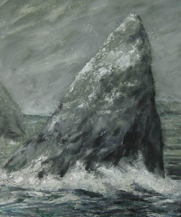 Stac an Armin, St Kilda with Gannets