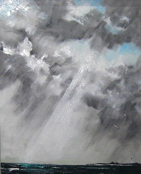 'Shaft of Light, Curtain of Rain'
